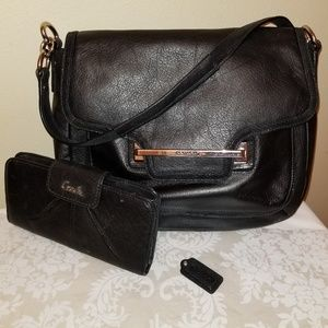 Coach Taylor Leather Flap shoulder bag and wallet